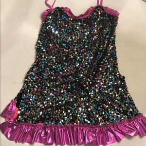 HP!! 💚 2/30 Multi-Color Sequined Dance Costume